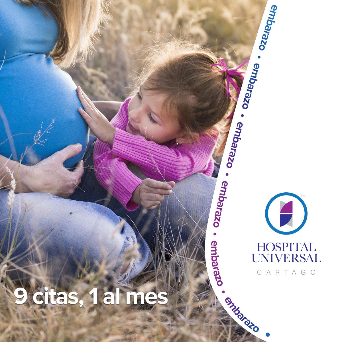 Embarazo - niña y mamá